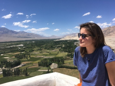 On top of Hemis Gompa, a beautiful monastery in Ladakh