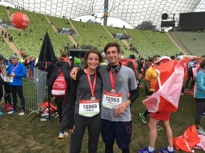 21km in 1h54 with my friend Thomas